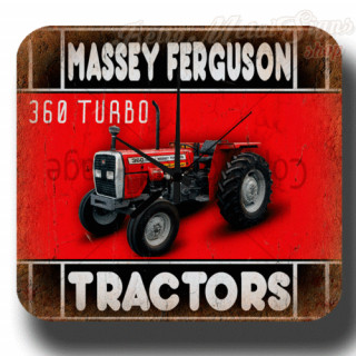 Massey Ferguson 360 garage metal tin sign wall clock