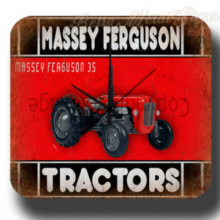 Massey Ferguson 35 garage metal tin sign wall clock