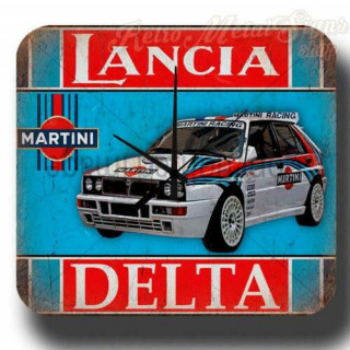 Lancia Delta Martini Racing garage metal tin sign wall clock
