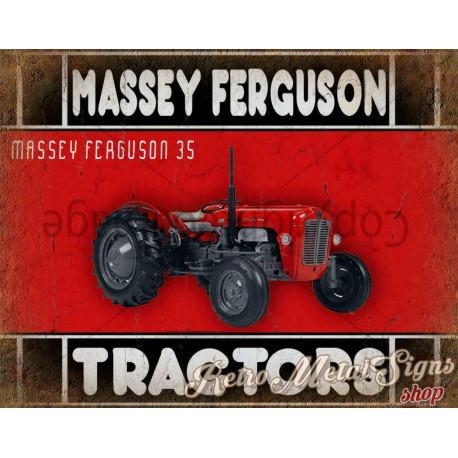Massey Ferguson 35  vintage metal tin sign wall plaque