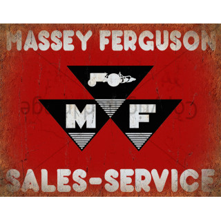 Massey Ferguson sales service  vintage metal tin sign wall plaque