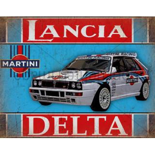 Lancia Delta Martini Racing  vintage metal tin sign wall plaque