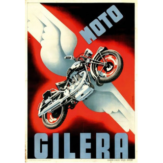 Moto Gilera  advertising plaque metal tin sign poster