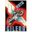 Moto Gilera  vintage garage advertising plaque metal tin sign poster
