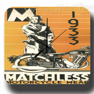 1939 Matchless motorcycle wear  retro metal tin sign wall clock