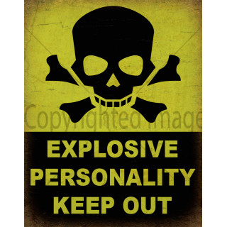 Danger Explosive Personality metal tin sign poster plaque