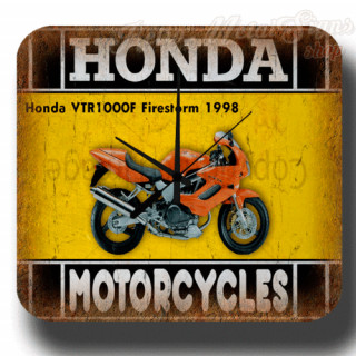 Honda VTR1000F Firestorm 1998 motorcycle  metal tin sign wall clock