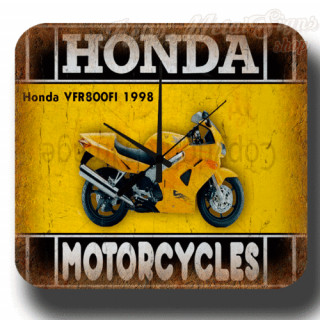 Honda VFR800FI 1998 motorcycle  metal tin sign wall clock