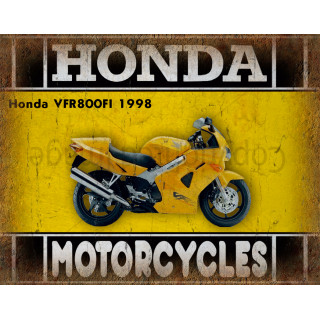 Honda VFR800FI 1998 motorcycle dvertising plaque metal tin sign poster