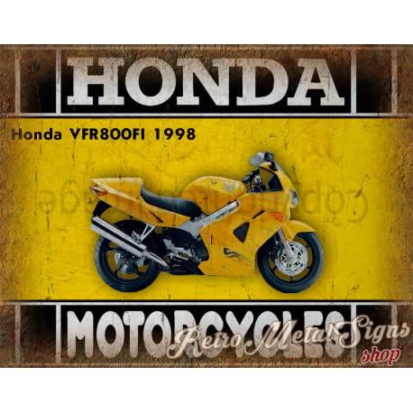 Honda VFR800FI 1998 motorcycle dvertising plaque metal tin sign poster