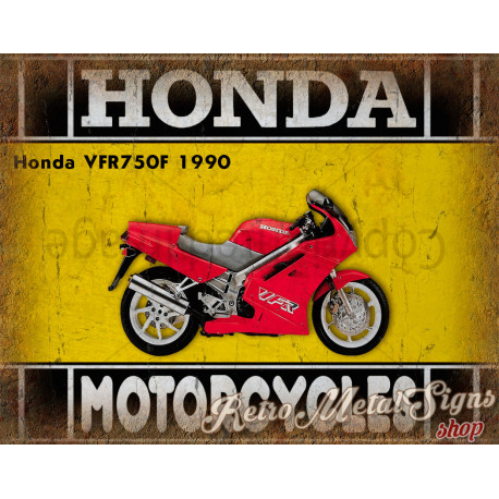 Honda VFR750F 1990   motorcycle plaque metal tin sign poster