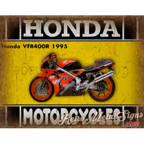 Honda VFR400R 1995 motorcycle plaque metal tin sign poster