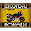 Honda VF1000R 1987 motorcycle dvertising plaque metal tin sign poster