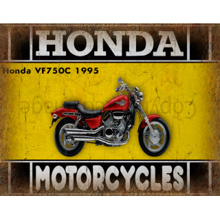 Honda VF750C 1995 motorcycle dvertising plaque metal tin sign poster