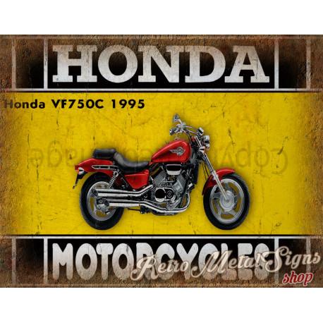 Honda VF750C 1995 motorcycle plaque metal tin sign poster