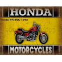 Honda VF750C 1995 motorcycle dvertising plaque metal tin sign poster