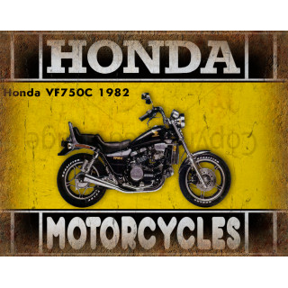 Honda VF750C 1982 motorcycle dvertising plaque metal tin sign poster
