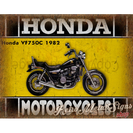 Honda VF750C 1982  motorcycle plaque metal tin sign poster