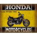 Honda VF750C 1982 motorcycle dvertising plaque metal tin sign poster
