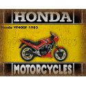 Honda VF400F 1983 motorcycle advertising plaque metal tin sign poster