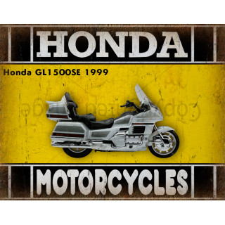 Honda GL1500SE 1999   motorcycle dvertising plaque metal tin sign poster