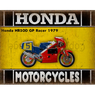 Honda NR500 GP Racer 1979 motorcycle dvertising plaque metal tin sign poster