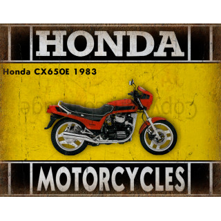 Honda CX650E 1983  motorcycle  plaque metal tin sign poster