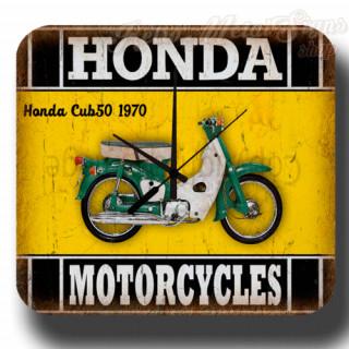 Honda Cub50 1970  vintage retro metal tin sign wall clock