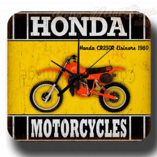 Honda CR250R Elsinore 1980  vintage retro metal tin sign wall clock