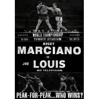 Rocky Marciano defeated Joe Louis boxing metal tin sign wall plaque