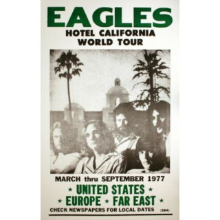 The Eagles Hotel California World Tour  metal tin sign poster wall plaque