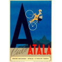Ciclo Atala Molteni Cycling  vintage metal tin sign wall plaque