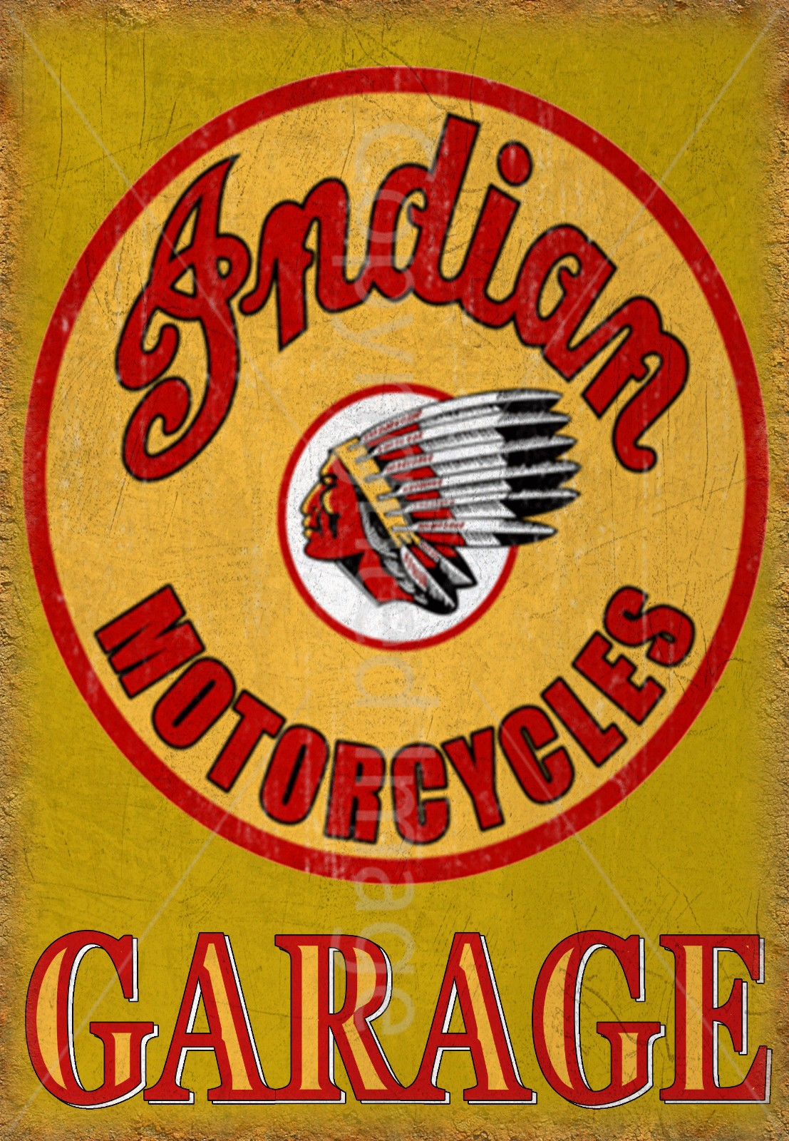 Indian Motorcycle retro metal sign//plaque man cave pub bar home garage shed A4
