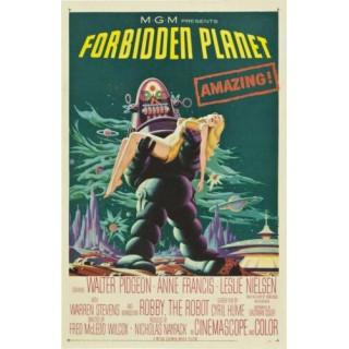 Forbidden Planet movie film metal tin sign poster plaque