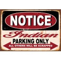 Indian motorcycles parking only  vintage garage advertising plaque metal tin sign poster