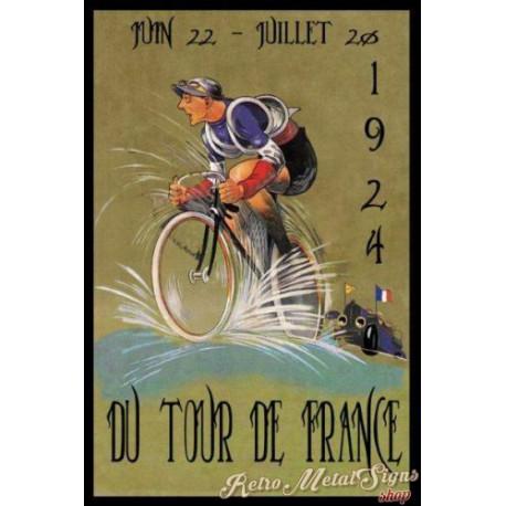Tour de France 1925  vintage metal tin sign wall plaque
