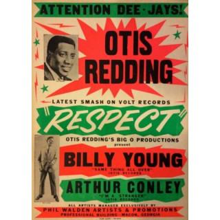 Otis Redding 1967 concert metal tin sign poster wall plaque