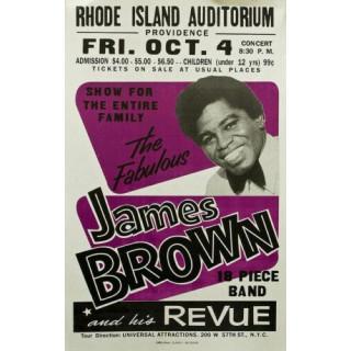 1960s James Brown concert metal tin sign poster wall plaque