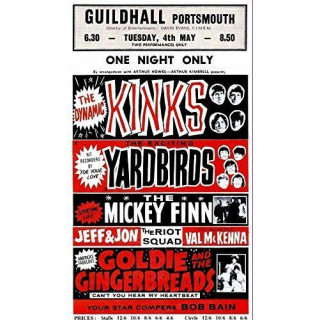 The Kinks 1966 concert metal tin sign poster wall plaque