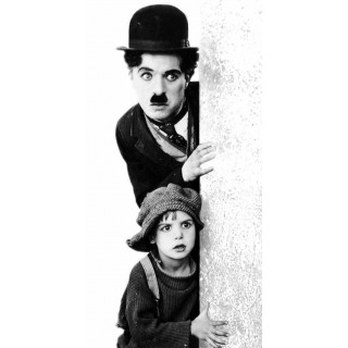 The Kid - Charlie Chaplin movie film metal tin sign poster plaque