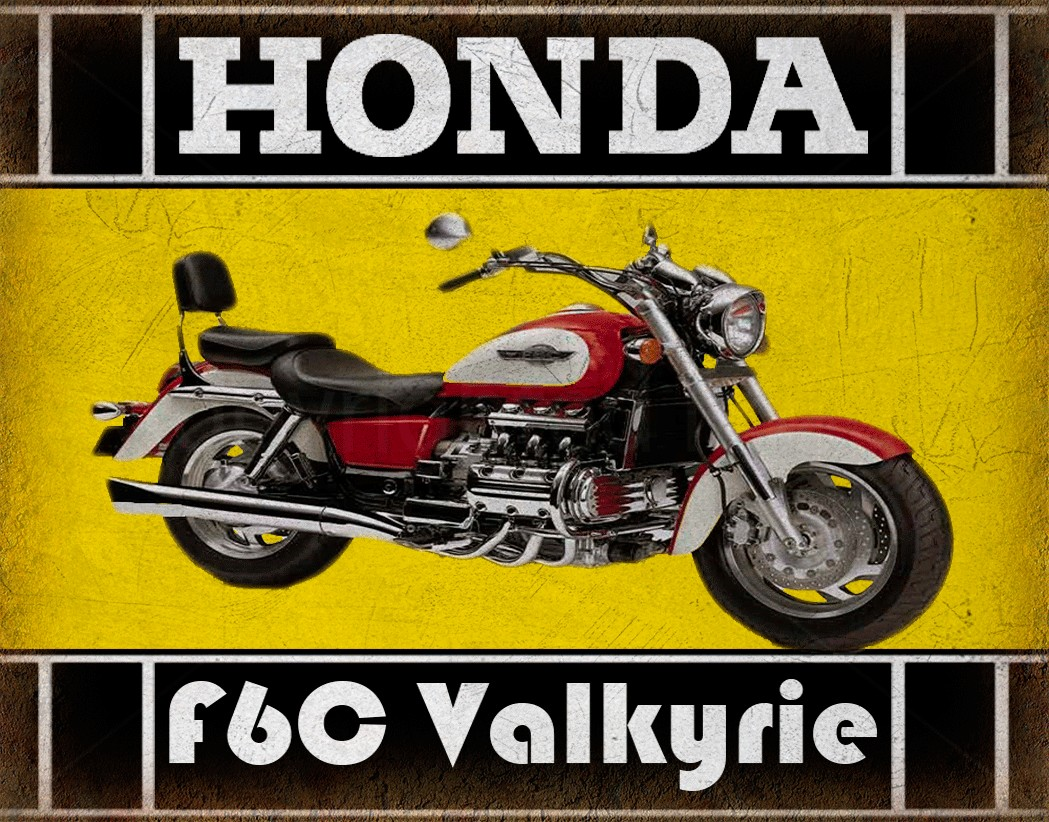 Honda FC Valkyrie Classic Motorcycle Vintage Garage Advertising - Bmw motorcycle tin signs