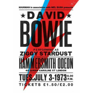David Bowie 1973 concert metal tin sign poster wall plaque