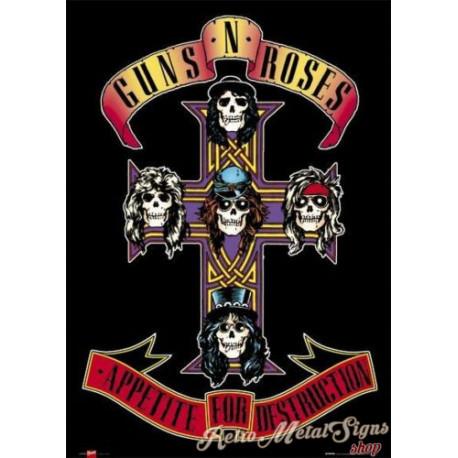 Appetite for Destruction Guns N' Roses metal tin sign poster  plaque