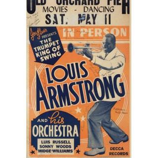 Louis Armstrong concert metal tin sign poster wall plaque