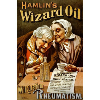 Hamlin's Wizard Oil metal tin sign poster wall plaque