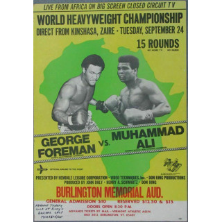 George Foreman vs Muhamad Ali  boxing metal tin sign wall plaque