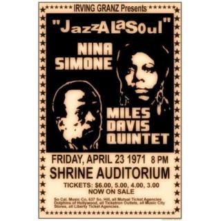 Nina Simone 1971   concert metal tin sign poster wall plaque
