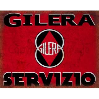 Gilera motorcycles service  vintage garage advertising plaque metal tin sign poster