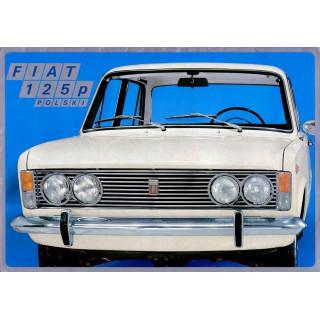 Fiat 125p Polski Fiat Polish Fiat vintage metal tin sign wall plaque