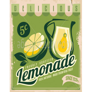 Delicious Lemonade  drink metal tin sign poster wall plaque